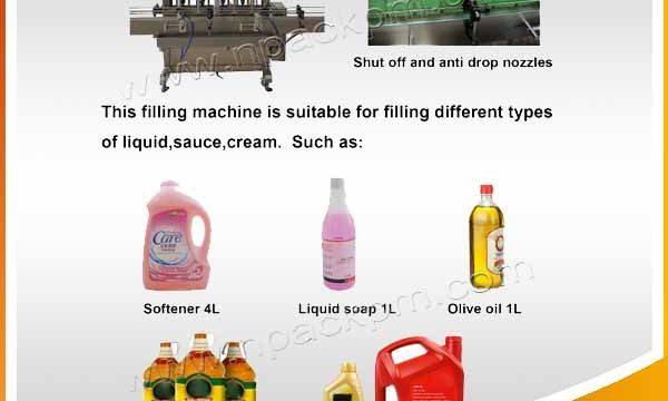 Riempitrice automatica per olio da cucina commestibile a 2, 4, 6, 8, 10, 12 teste