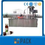 Riempitrice liquida automatica di bottiglie rotanti con tappatura