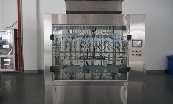 Riempitrice per liquidi a pressione atmosferica automatica a 12 teste