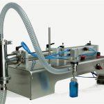 Riempitrice ad olio lubrificante a doppia testa a controllo pneumatico