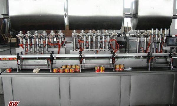 Riempitrice automatica per salsa di pizza calda