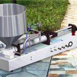 Riempitrice di liquido detergente semiautomatica